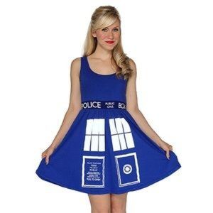 Her Universe Doctor Who Tardis Blue Knit Dress
